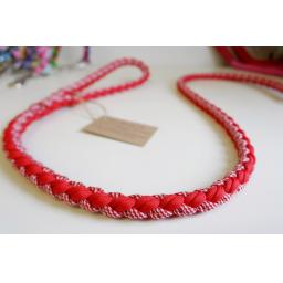 1m Paracord 550 Rope Lead - 'Cherry Bakewell'