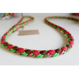 1m Paracord 550 Rope Lead - 'Watermelon Whimsy'