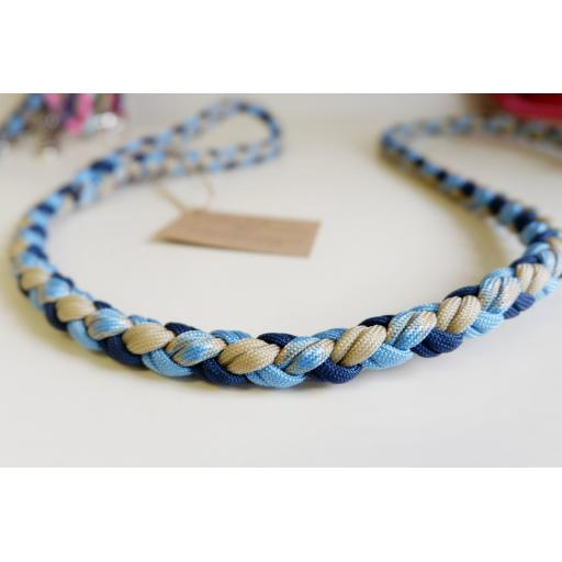 1m Paracord 550 Rope Lead - 'Blueberry Sponge'