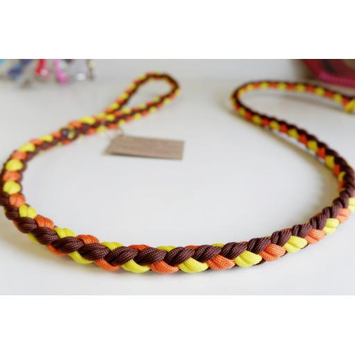 1m Paracord 550 Rope Lead - 'Banana Split'