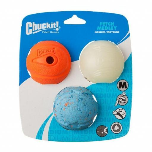 Chuckit! Fetch Medley 3pk, Medium