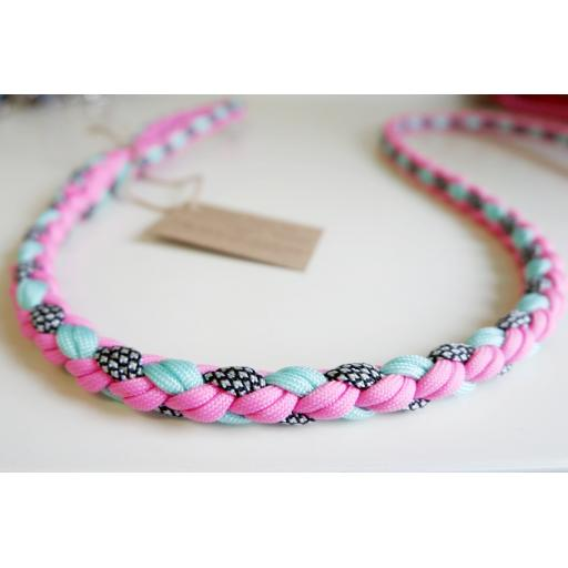 1m Paracord 550 Rope Lead - 'Candyfloss Sorbet'