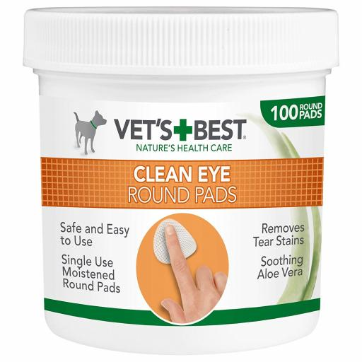 Vets Best Clean Eye Round Pads 100pcs
