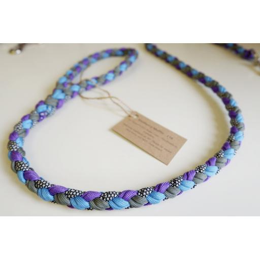 1m Paracord 550 Rope Lead - 'Blueberry Muffin'
