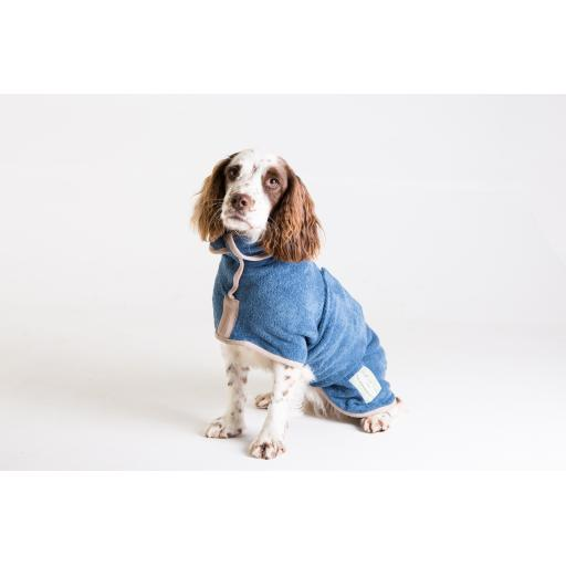 Classic Ruff & Tumble Dog Drying Coat, Sandringham Blue