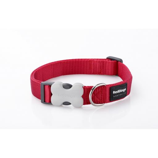 Red Dingo Dog Collar, Plain Red