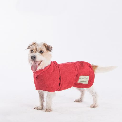 Classic Ruff & Tumble Dog Drying Coat, Brick Red