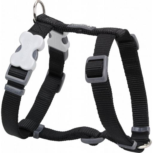 Red Dingo Plain Black Harness