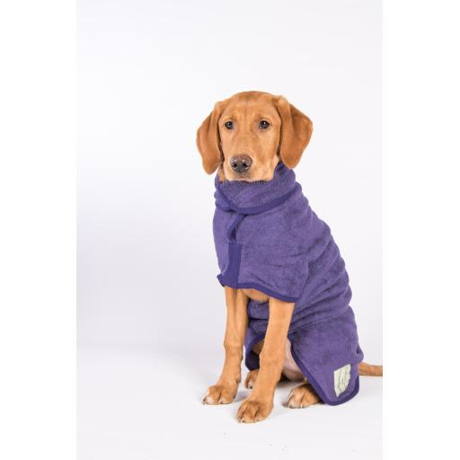 Classic Ruff & Tumble Dog Drying Coat, Heather
