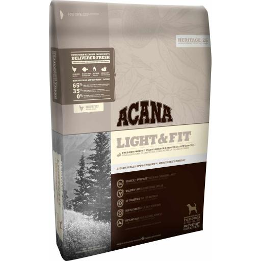 ACANA Heritage Light & Fit Adult Dog Food 2kg