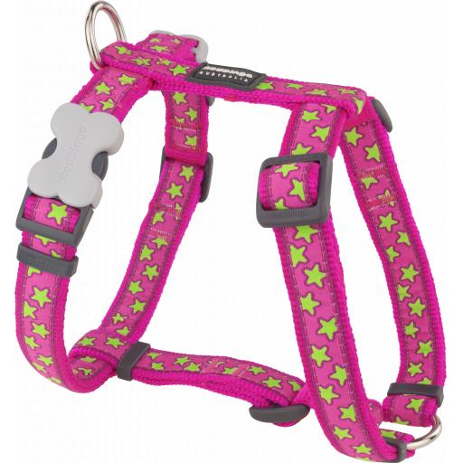 Red Dingo Pink Star Harness