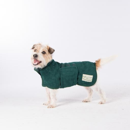 Classic Ruff & Tumble Dog Drying Coat, Bottle Green