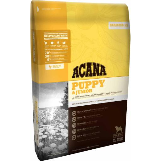 ACANA Heritage Puppy & Junior Dry Food 2kg
