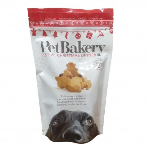 Pet Bakery Christmas Shortbread Biscuits for Dogs 190g