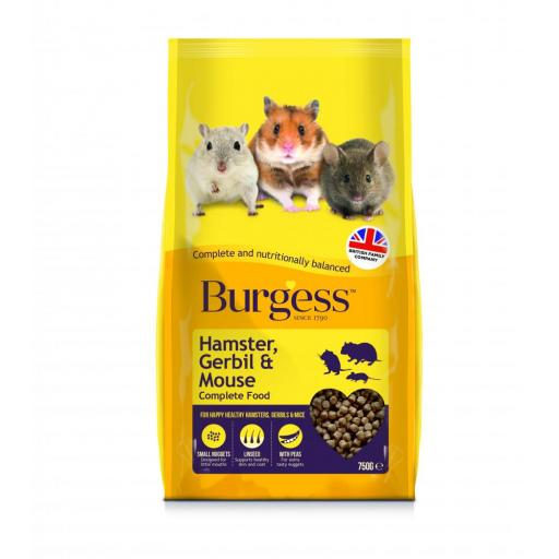 Burgess Hamster, Gerbil & Mouse Complete Food 750g