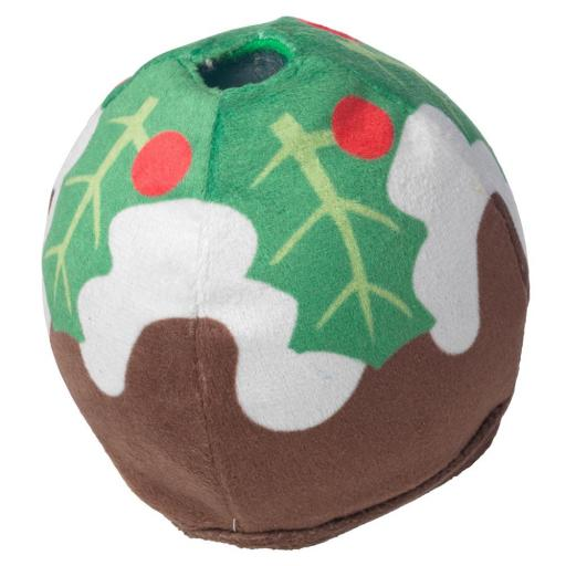 Christmas Pudding Treat Dispenser Toy