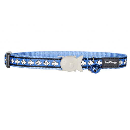 Red Dingo Reflective Blue Cat Collar