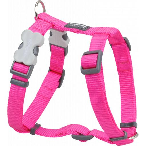 Red Dingo Plain Hot Pink Harness