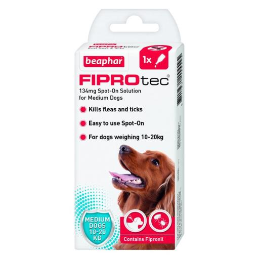Beaphar FIPROtec Spot-On for Medium Dogs