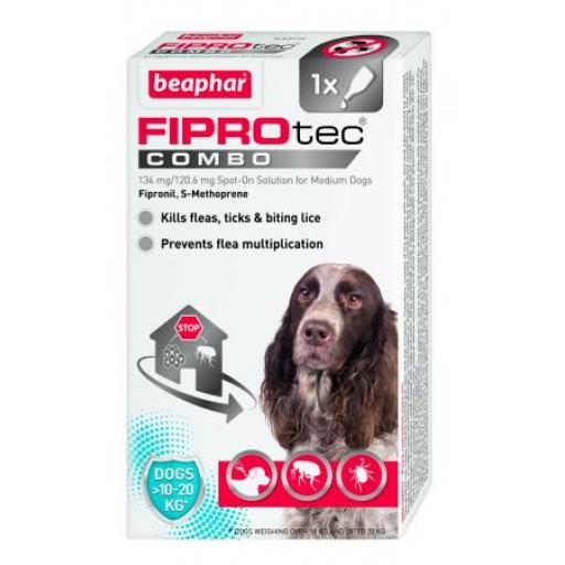 Beaphar FIPROtec® COMBO for Medium Dogs