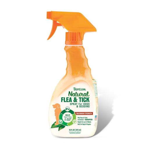 TropiClean Natural Flea & Tick Spray for Dogs & Bedding 473ml