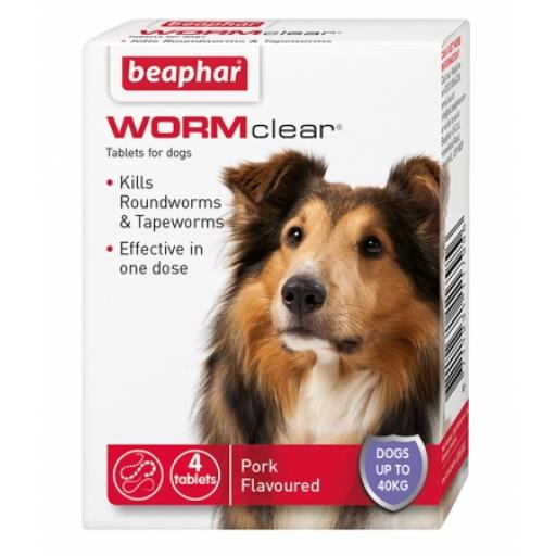 Beaphar WORMclear Tablets for Dogs (up to 40kg)