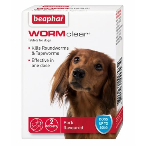 Beaphar WORMclear Tablets for Dogs (up to 20kg)