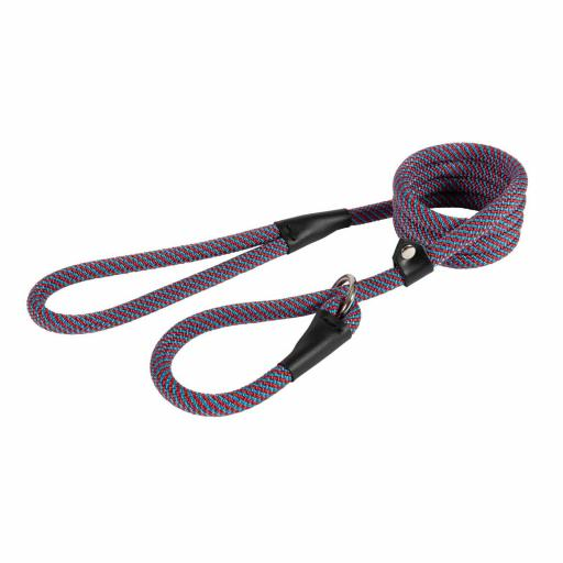 Ancol Deluxe Rope Slip Lead Red/Blue